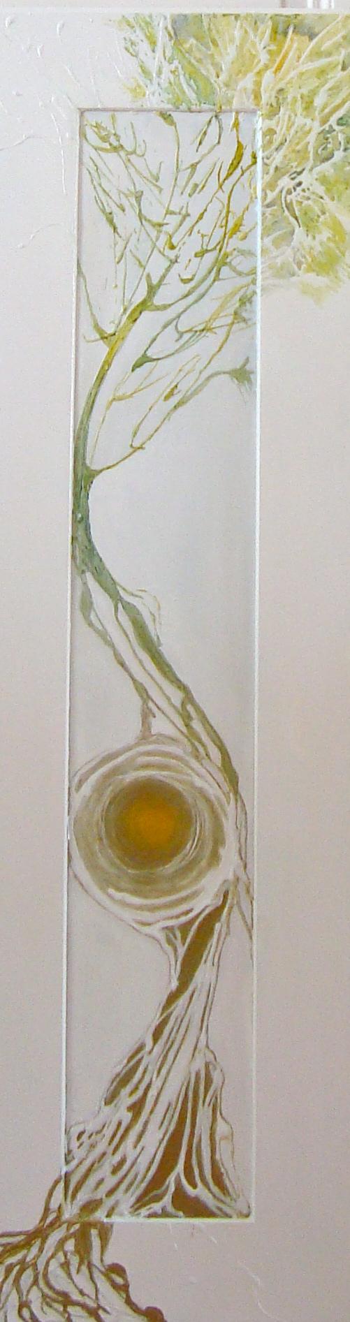 Goldbaum Acryl auf Hartfaserplatte 40 x 120