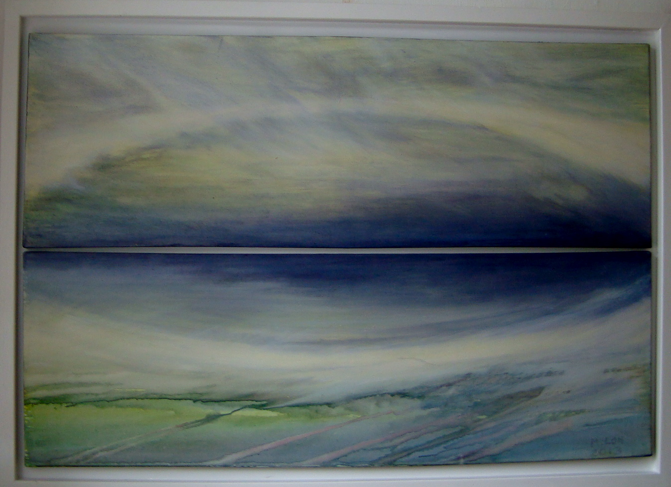Spiegelung, 2013, Acryl auf Leinwand, 130 x 90 cm