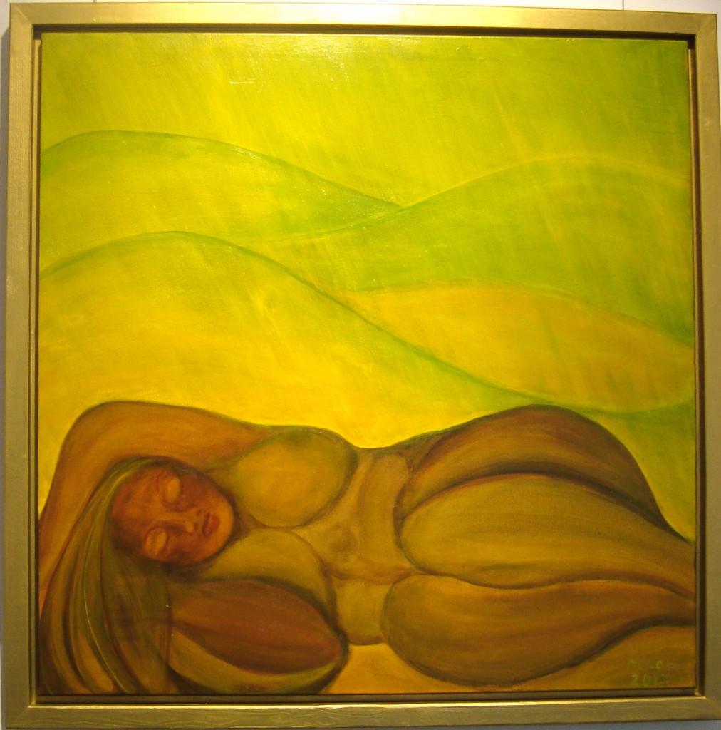 Sommertraum, 2013, Acryl auf Leinwand100x100cm
