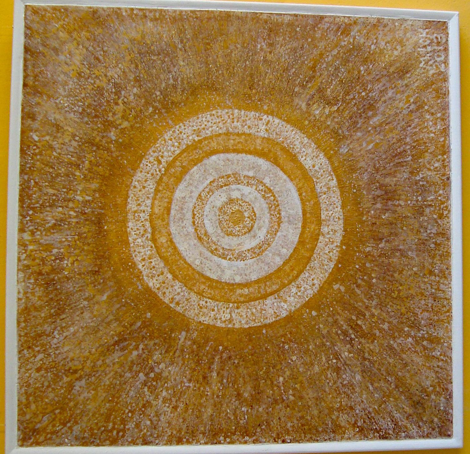Konzentrische Entfaltung, 2013, 90x90 cm Acryl auf Hartfaserplatte