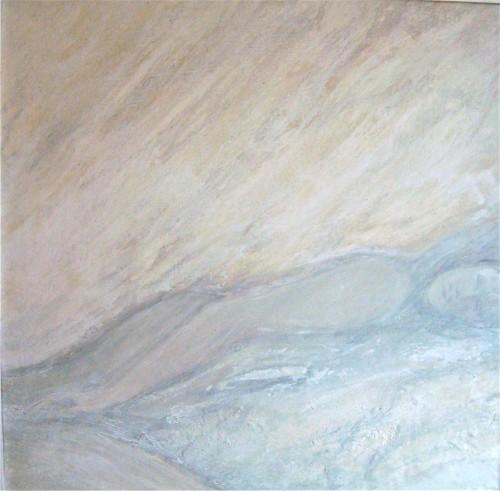Wintertraum 2013 Acryl auf Holzplatte 90x90 cm