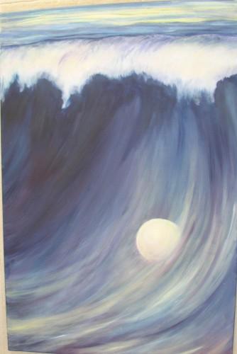 Mond in der Welle 2010 Acryl auf Leinwand 60x80 cm