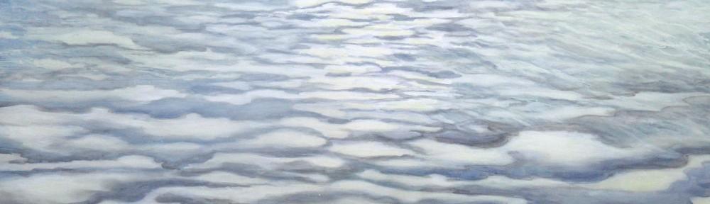 Wolkenwatt, 2013, Acryl auf Leinwand, 90 x 130 cm