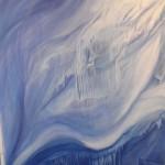 Auflösung 2011 - 140 x 220 cm,  Acryl auf Leinwand