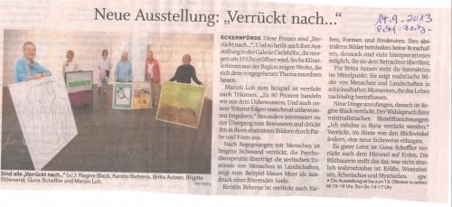"""Ausstellung """"Verrückt nach... """" 2012 Eckernförde"""