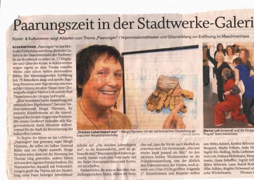 Paarungen - Ausstellung Eckernförde 2012